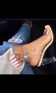 Perspex transparent heel