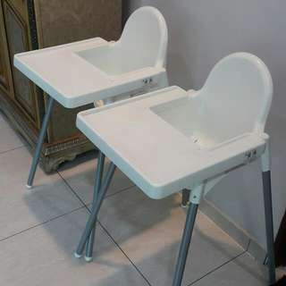 2 Units IKEA Antilop Baby Highchair