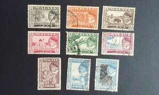 Malaya Johor stamps