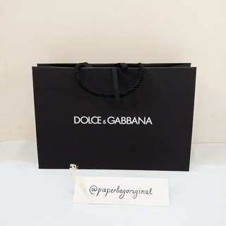 Dolce Gabbana Paperbag Authentic paper bag original