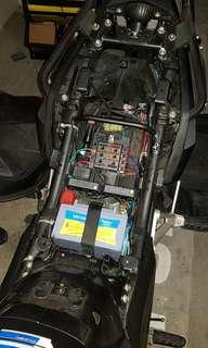 Cb400x accessories fusebox installation