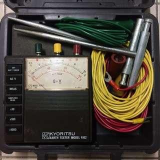 KYORITSU Model 4102 Analog Earth/Ground Tester (Hard case) #MayRathon