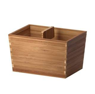 Ikea  Set 4 Varieras Box with handle, 24×17cm, bamboo