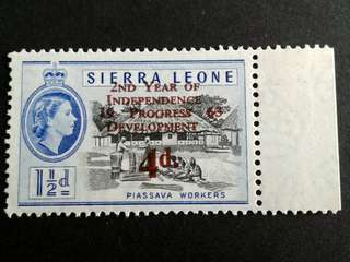 1963 Sierra Leone 4d stamps#1