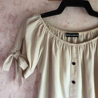 CLEARANCE SALE! Off Shoulder Nude Top