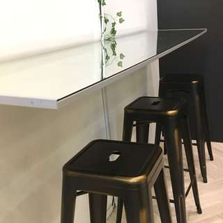 Matt Brushed Bar Stools x 6 (only available for 2 days)