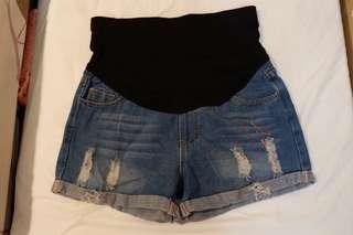 Hot pants jeans ibu hamil