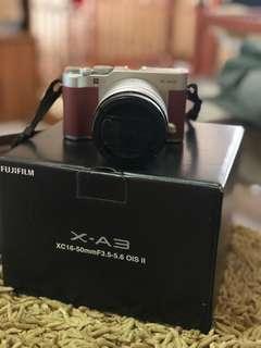 Dijual kamera mirrorlesa fujifilmX A3 full set mulus