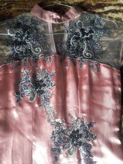 Dress peach Bunga fayet Monte  #Mausupreme