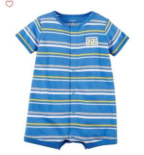 *18M* BN Carter's Snap Up Cotton Romper For Baby Boy