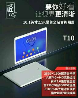 全新 高登捌伍 台電 T10 10.1寸 2560屏幕 4G ram 64GB android7.0 1300萬自拍 5G wifi 香港google play 繁中 一年保養 門市交收