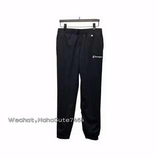 (价格私询)#champion 18ss 黑色串标网眼长裤