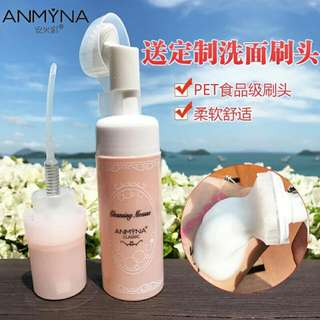 🎀Anmyna Cleansing Mousse🎀安米娜洗面奶 Free Soft Cleansing Brush   Fine Foam Easily Remove Light Makeup No Thigh Feeling After Washing  Feel Refresh