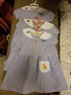 迦南 夏季 校服裙 100碼 x3 條