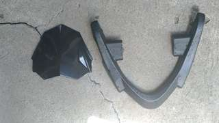 Handle bar and visor for honda wave gilas 125