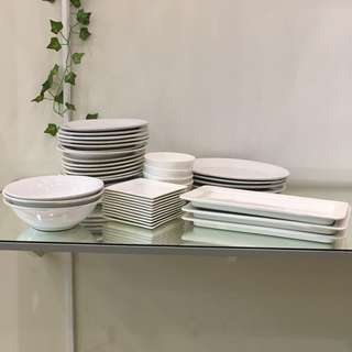 White Ceramic Servingware (only available for 2 days)