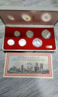 1985 silver proof coin set