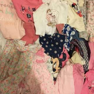 Baju Baby Girl Bundle 1 Large Suitcase 70-80 pieces MOST NEW FROM UK