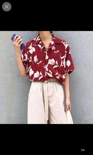 Judith floral short sleeves shirt