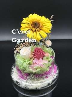 Preserved flower 永生花 保鮮花 太陽花 畢業花 父親節禮物