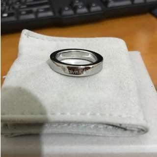 Calvin Klein (男)戒指 直徑1.7公分(二手)