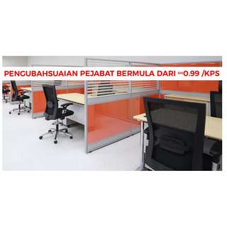 Office renovation with the budget price, suitable for new or insisting office.