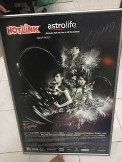 SHE autographed poster with wooden frame