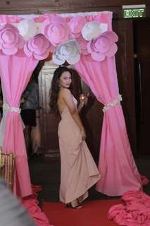 ELEGANT NUDE PINK LONG DRESS