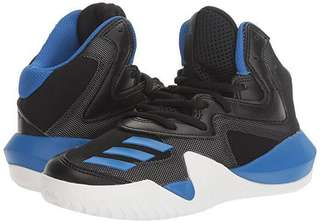 FREE SF UK4 (Men) Size 36 (Women) Adidas CRAZY Team K Basketball Shoes in Blue and Black