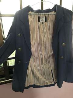 Spicy Colour blue casual blazer
