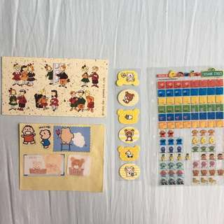 Eddy&Emmy 拉拉熊 大寶 ELMO 芝麻街 三麗鷗 Sanrio 日本 美國 紀念 貼紙