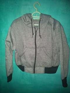 Hoodie crop grey