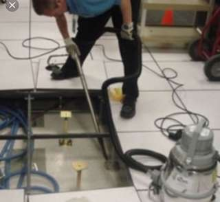 Raise floor cleaning/servicing