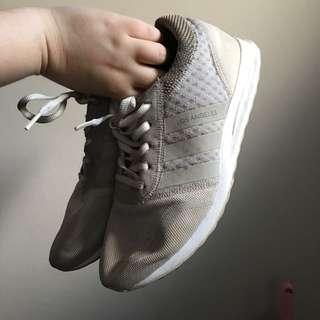 Adidas original los angeles beige mesh trainers