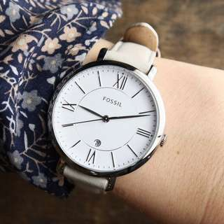 PROMO SALE - Fossil Womens ES3793 Jacqueline Stainless Steel Watch with Leather Band