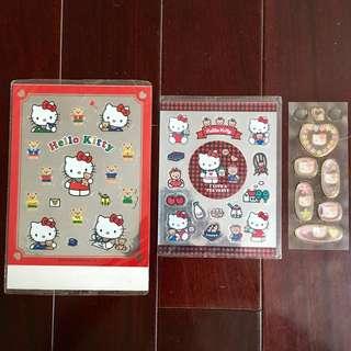 Hello Kitty 日本製 貼紙 鏡面