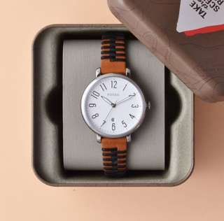 PROMO SALE - Fossil Watch Jacqueline Multicolored Stainless-Steel Case Leather Strap Ladies ES4208