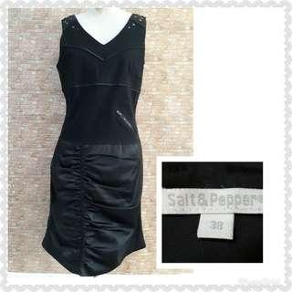 SALT&PEPPER BLACK BODYCON DRESS