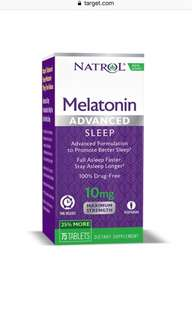 Natrol Melatonin Advanced Sleep Dietary Supplement Tablets 10mg TR 75ct