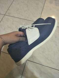 🚚 Ponic&co藍色雨鞋防水懶人膠鞋(native雨鞋 可參考)台中面交