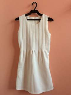 White Bench Dress, used once