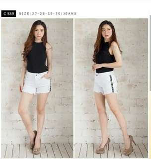 Short pants white listed
