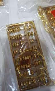Keychains abacus gold colour