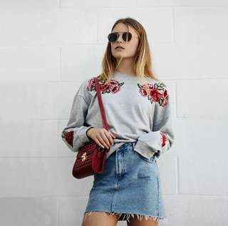 Rose Embroidery Top
