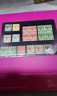 Malaya old stamps