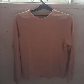Sweater devided h&m pastel pink