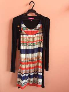 Dress with cardigan, used once
