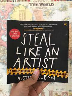 Steal Like An Artist (By Austin Kleon) Softcover, Bahasa Indonesia