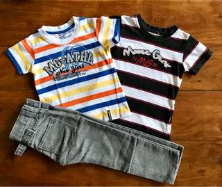 2-pack T-shirts and jeans Set