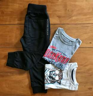 2-pack T-shirts and joggers Set
